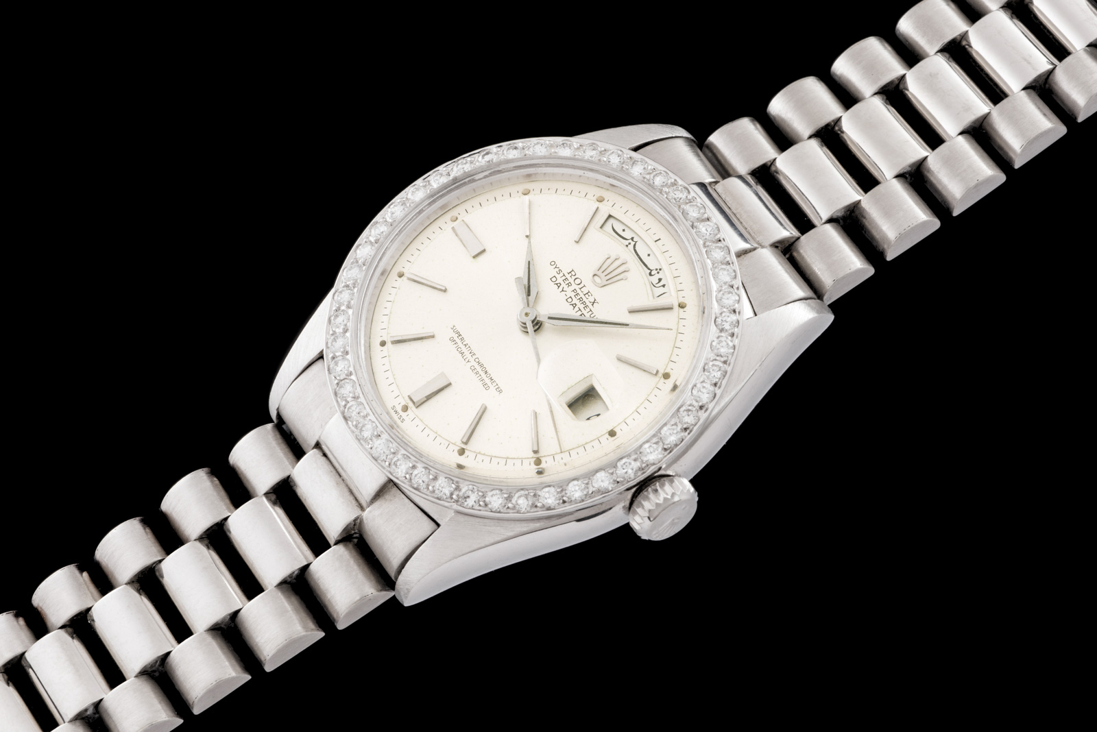 "Rolex ""The Platinum Diamond Arabic Day Date ref. 6613"" 0"